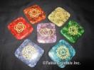 Engrave Orgone Chakra Square Disc Set