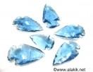 Blue Glass Arrowheads