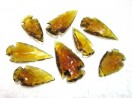 Yellow Glass Arrowheads