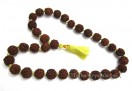 Big Rudraksha 15mm 33bdas Yellow Note jap mala