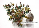 Multi Gemstone 300bds tree with orgone base
