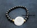 Black Tourmaline Gomti Chakra Bracelet