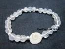 Crystal Quartz Gomti Chakra Bracelet