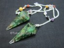 Green Aventurine orgone Pendulum with chakra chain