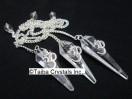Crystal Quartz 6 Facet Pendulum with OM