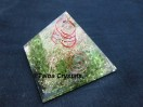 Peridot Orgone Pyramid with Coppr coil