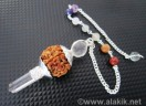 20mm Rudraksha 3pc Pendulum with chakra chain
