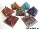7 Chakra Natural Stone Orgone Pyramid Set 50-55mm