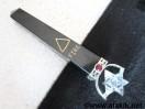 Black Jasper 5 Element Spinning Merkaba Massager with Garnet