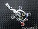 Chakra Turtle 925 Silver pendant