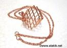 Copper Square Cage Necklace