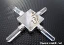 Crystal Quartz Engraved OM  Pyramid Energy Generator