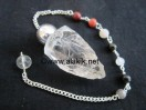 Crystal Quartz silver Modular pendulum with chakra chain