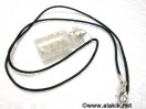 Crystal Quartz Bottle pendant with cord