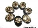 Engrave Chakra BT orgone oval set