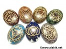 Engrave Chakra Orgone oval Set
