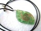 Green Eye orgone pendant with cord