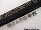 Labdradorite 7pcs Geometry set with velvet purse
