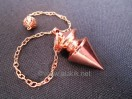 Metal Bronze pendulum with plate