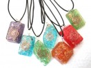 Mix Design orgone pendants with cords