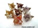 Mix Gemstone Orgone Merkaba Star