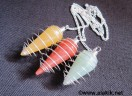 Mix Gemstone Silver Cone Cage pendulum