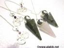 Mix Gemstone Silver Modular pendulum with OM