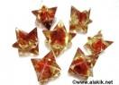 Red Cornelian Orgone Merkaba Star