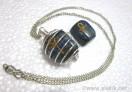 Silver Lapis ANKH Tumble spring cage neckalce