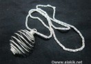 Silver necklace with cage