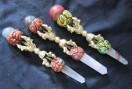 Tibetan Healing Wands with Metal dorjes
