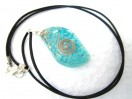 Tourquise Eye Shape Orgone Pendant with cord