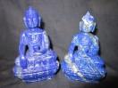 Twin Lapis Lazule Buddha Idols